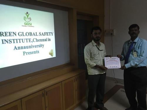ANNA UNIVERSITY  WORKSHOP  CERTIFICATE ISSUED BEST MOMENT